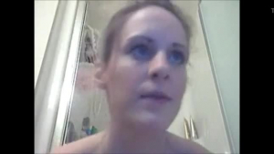 Hot Blue eyed tranny Ashley Bay gobbles and sucks a giant cock
