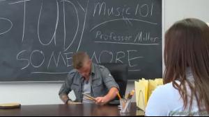 Wicked teen teacher Anna de Ville seduces a senior teacher Silvie Sands and fucks her with various toys