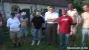 Gang Party creampie backshot
