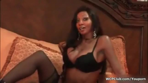 Hot black girl fucked during sex