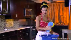 Incredibly curvy Peta Jensen is hot and hungry for 2 meat poles