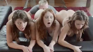 Casey massaging her mothers gaping twat
