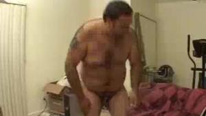 Chubby brunette babe giving POV handjob