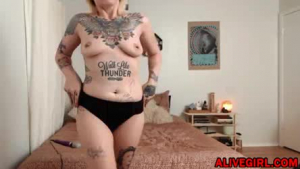Tattooed MILF having crazy and hardcore sex with young boy