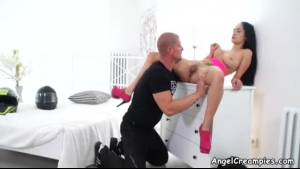 Big Dicked White Dude Fucks Real Hot Busty Asian GF Inside Her Home In Black Boots XXX Movies