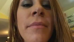 Mary Anne likes to play with her small tits, while an experienced, horny guy is watching her