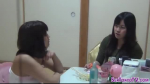 Horny Asian teens having wild massage