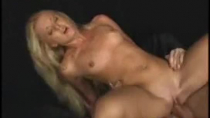 Blonde gets fucked in pantybo, hard ass